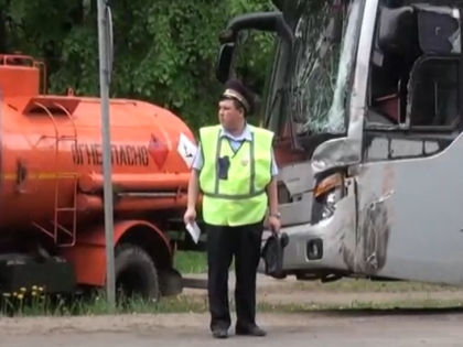 В результате столкновения никто не пострадал // Кадр из видео агентства «Москва»