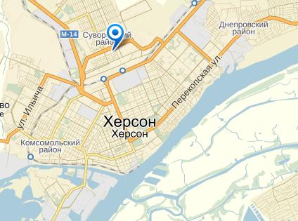 Инцидент произошел в Суворовском районе Херсона // Яндекс.Карты