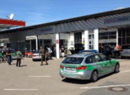 Мужчину задержали на заправке // Стоп-кадр телеканала Euronews
