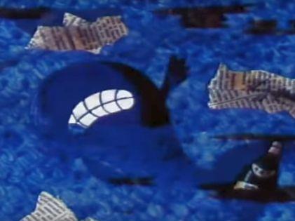 """Кит из мультфильма """"Сказка о белой льдинке"""" (""""Киевнаучфильм"""", 1974) // стоп-кадр"""
