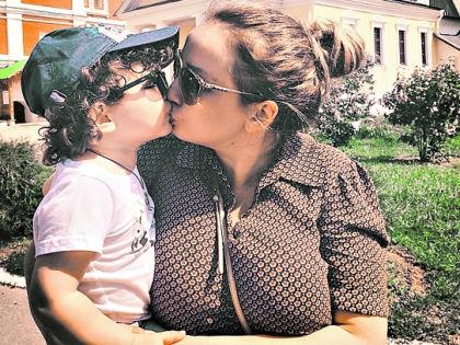 Анфиса Чехова с сыном // instagram.com