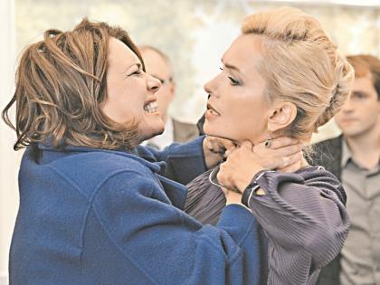 Соперницы: актрисы Татьяна Колганова и Мария Порошина // телеканал «Россия 1»