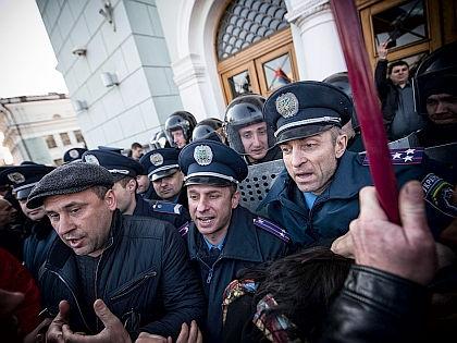 Столкновения в Донецке // Global Look