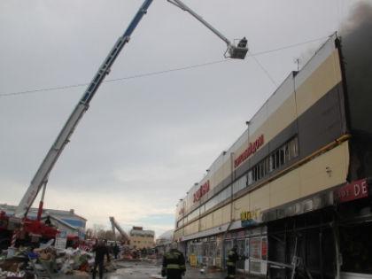 Пожар в казанском торговом центре начался днём 11 марта //  ГУ МЧС России по Республике Татарстан
