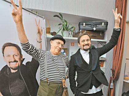 Стас Михайлов и «лицо ресторана» Леопольд Казимирович // Владимир Бертов