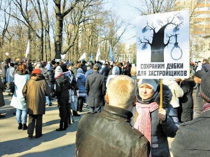 Акция протеста против строительства в «Дубках» // vk.com/savedubki