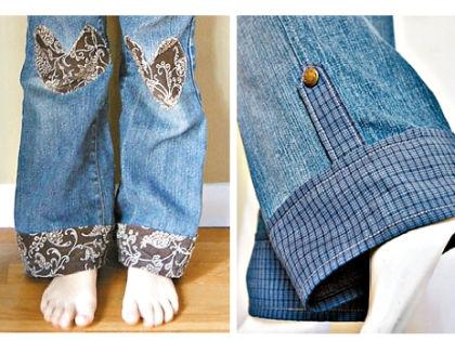 Как удлинить джинсы - 3 способа 19