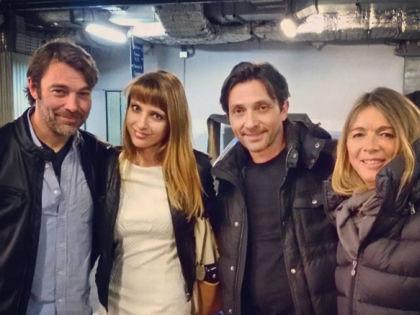 Патрик Пьюдеба, переводчица Маргарита Алешина, Себастьен Рош и Элен Ролле // @ritapetitefee / Instagram