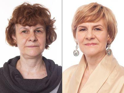 Елена до и после преображения // Александр Крофт / студия «Фотоколледж»