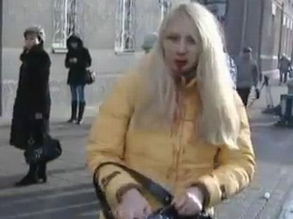 Анна Шавенкова после аварии в декабре 2009 года // Кадр YouTube