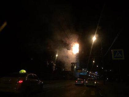 На место происшествия выехали пожарные расчёты // Twitter