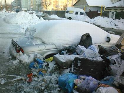 """В Омске на помойке найден """"Ягуар"""" старой модели // Фото из сообщества «Типичный Омск» в «ВКонтакте»"""