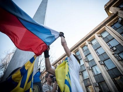 Флаги России и Украины // Global Look