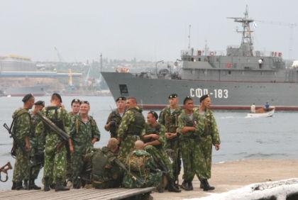 """""""Если мы назовем ПМТО базой, кораблей в составе ВМФ России от этого не добавится..."""" // Сервер Амзаев / Global Look Press"""