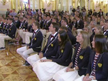 Олимпийская сборная РФ на встрече с Владимиром Путиным // kremlin.ru