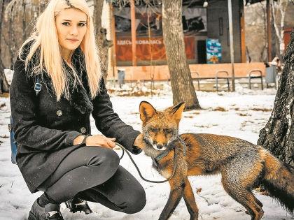 Ольга спасла от лису от смерти // личный архив Ольги Роса
