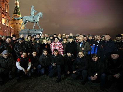 Первое собрание членов «Антимайдана» на Манежной площади в Москве 15 января // Russian Look