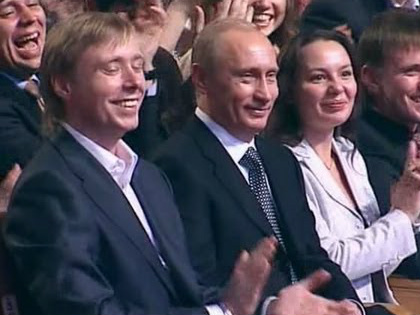 Владимир Путин почтил своим присутствием юбилейный КВН, отмечавшийся в Кремле // Стоп-кадр YouTube