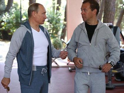 Владимир Путин и Дмитрий Медведев //  Официальный сайт президента РФ