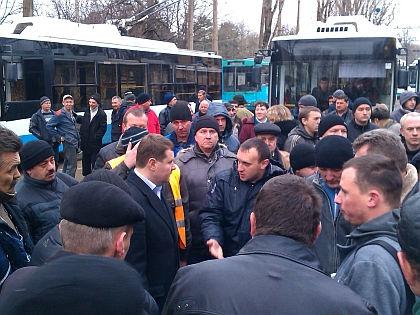Забастовка «Крымтроллейбуса» // Портал правительства Симферополя / simf.rk.gov.ru