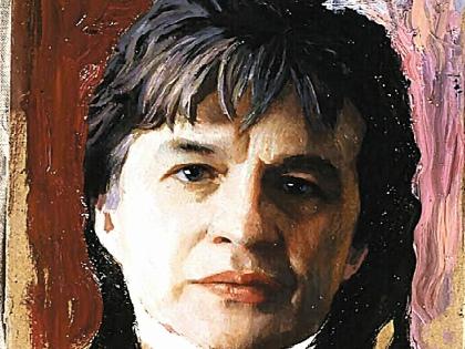 Лицо певца на портрете будто ожило, уверяет Мирошник // из личного архива