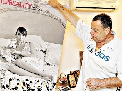 Владимир Фриске с фотопортретом дочери // Андрей Струнин / «Собеседник»