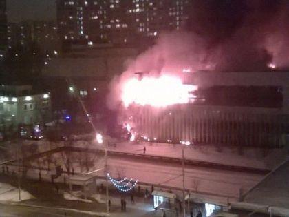 Пожар в ИНИОН произошёл 30 января // Владимир Абрамов/ «Собеседник»