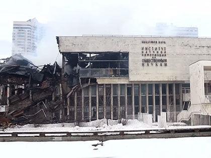 Уничтоживший библиотеку пожар произошел в конце января // Кадр YouTube