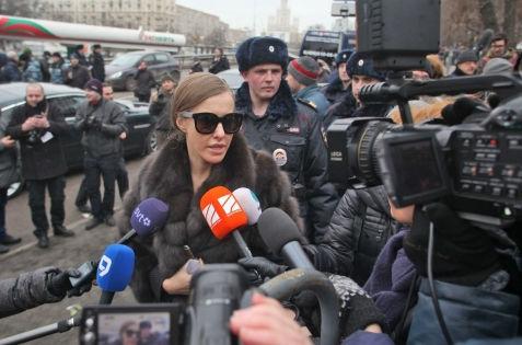 Ксения Собчак на церемонии прощания с Борисом Немцовым // Russian Look