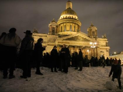 Митинг против передачи Исаакиевского собора РПЦ 13 января 2017 года // Стоп-кадр YouTube