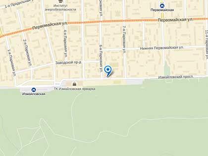 Убийство произошло близ общежития № 5 МГТУ им. Баумана // Яндекс.Карты