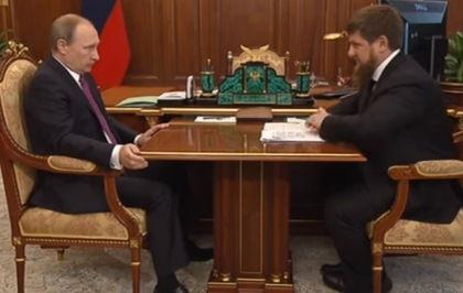 Владимир Путин и Рамзан Кадыров обсудили ситуацию в Чечне // Стопкадр YouTube