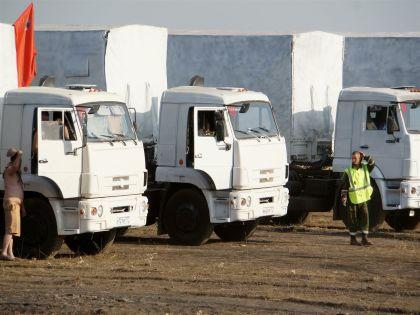 В субботу в Луганск прибыли первые 70 грузовиков из гуманитарного конвоя // Interpress / Russian Look