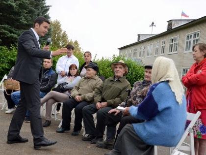 Илья Яшин на встрече с избирателями // личная страница Ильи Яшина в Facebook