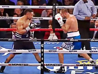 Сергей Ковалев потерпел поражение от боксера из США Андре Уорда // Стоп-кадр YouTube
