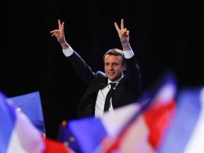 Эммануэль Макрон выиграл первый тур президентских выборов во Франции // Global Look Press