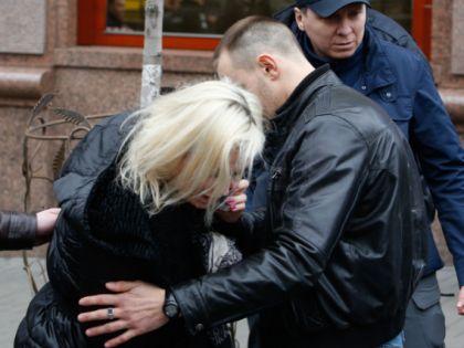 Максакова на месте убийства мужа // Global Look Press