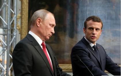Владимир Путин и Эммануэль Макрон // Global Look Press