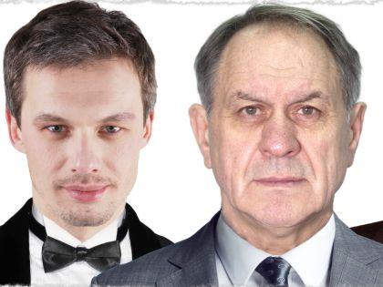 Звезды постановки Эльдар Лебедев и Валерий Афанасьев // фрагмент афиши