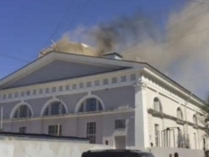 Пожар в Манеже // Кадр YouTube
