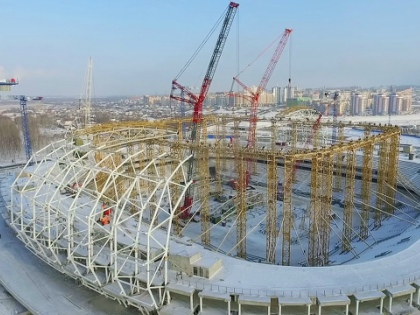 Средняя посещаемость игр местной команды – 3000 человек. Стадион строят на 45.000 // Стоп-кадр YouTube