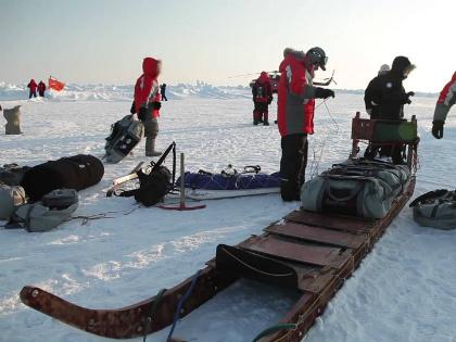 Вертолет от Хатанги до Северного полюса не долетит, нужна опорная точка // Стоп-кадр YouTube