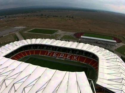 Стадион «Ахмат Арена» в Грозном // Стоп-кадр YouTube