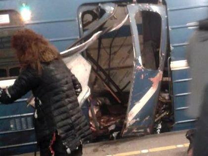 Вагон поезда петербургского метро, в котором сработало взрывное устройство // Global Look Press