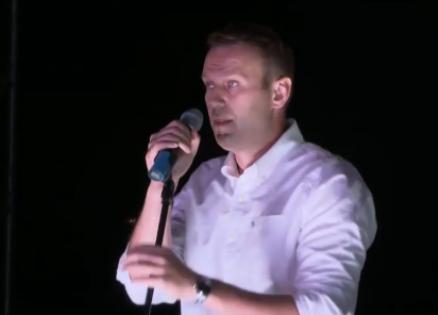 Алексей Навальный на митинге в Марьино // Стоп-кадр RUPTLY