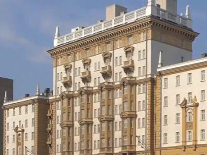 Посольство США в Москве // Кадр YouTube