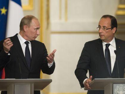 Владимир Путин поручил установить с «французами [в Сирии] прямой контакт и работать с ними как с союзниками как на море, так и в воздухе» // Global Look Press