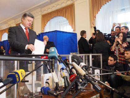 Победитель выборов в Раду 26 октября – действующий президент Украины Петр Порошенко // Igor Golovniov/ZUMAPRESS