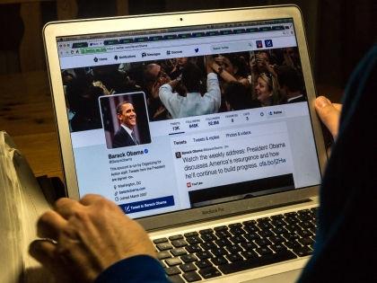 У президента США также есть официальный микроблог @BarackObama, который ведут его помощники // Global Look Press