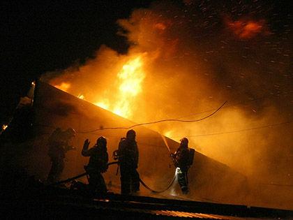 Общая площадь пожара составила 200 кв. м // Замир Усманов / Russian Look
